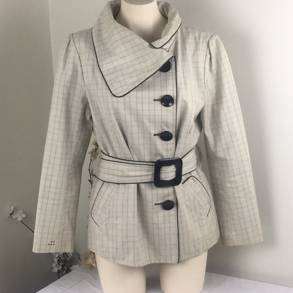 Soia & Kyo Cotton Beige Trench Jacket